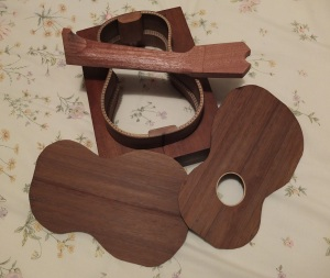 Iroko body, Mahogany neck, Ukulele Parts