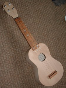 My 5th uke - Maple back, sides, neck, Sitka spruce front